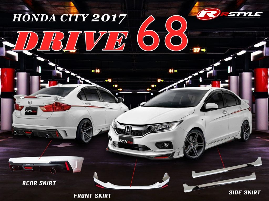 ชุดแต่งรอบคัน ทรง Drive68 สำหรับ Honda City 2017 | Rstyle ...