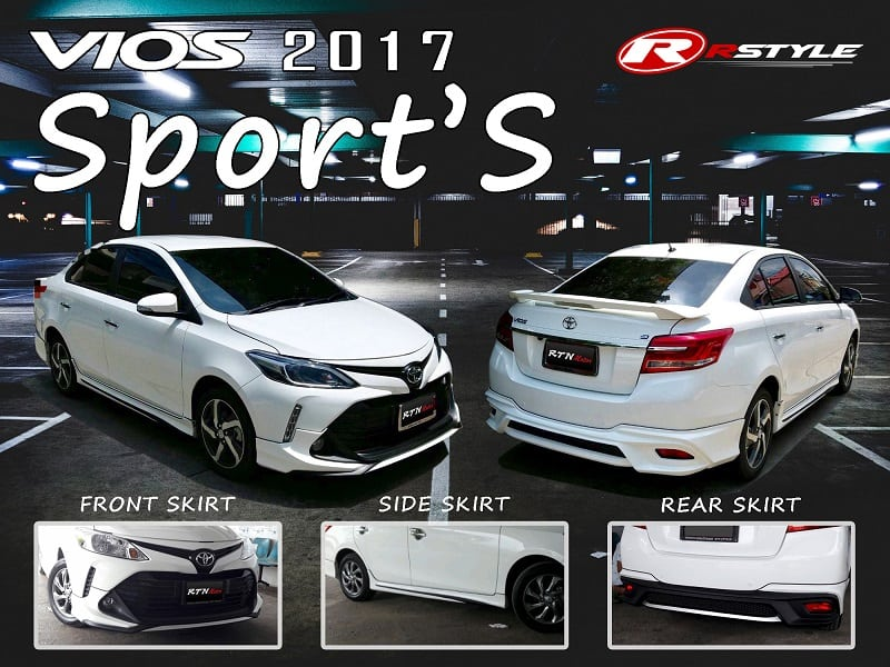 Bodykit SPORT'S For Vios 2017 - Rstyle Racing