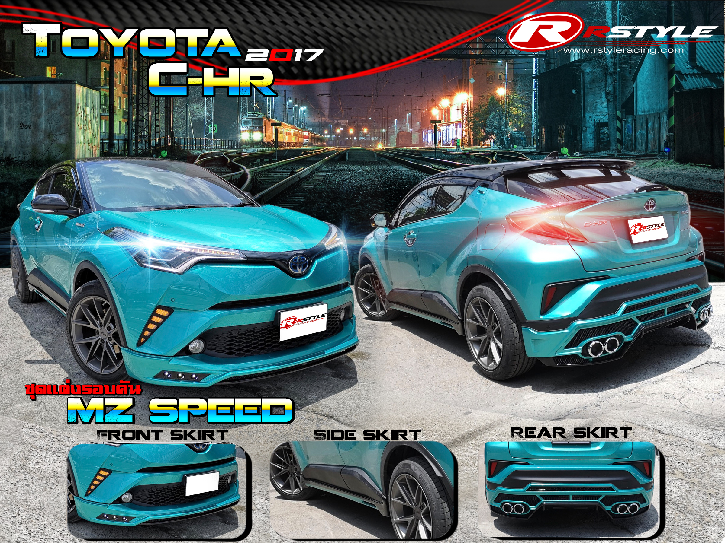 body kit for toyota c-hr mz speed style  abs  thai product