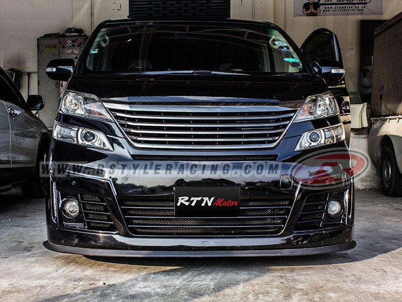 Front Grille Real JAPAN For VELLFIRE BLack Chrome Color - Rstyle Racing