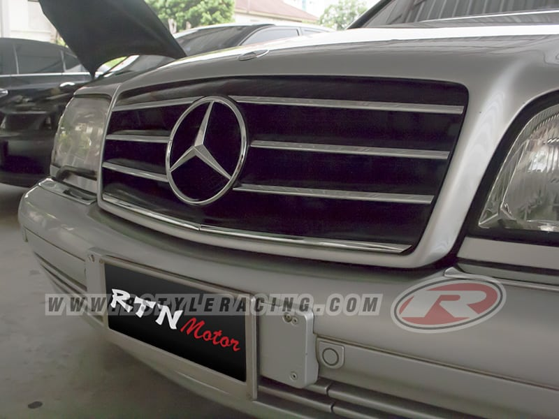 Chrome Stainless Trunk Lid Moulding For Mercedes W140 S-Class European Model